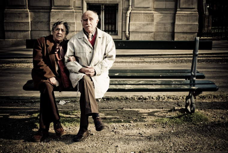 old couple bench HR