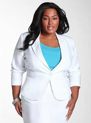 white blazer plus size - baggage clothing